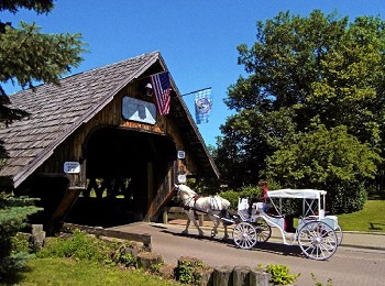 Horse-carriage-heading-into-the-bridge-TRI-Bavaria-weekend Event